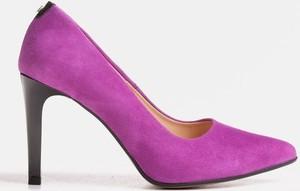 Szpilki Marco Shoes na wysokim obcasie ze skóry