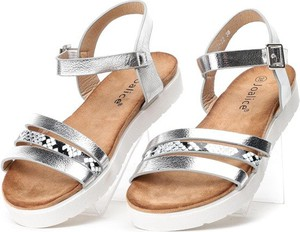 Srebrne sandały Royalfashion.pl w stylu casual
