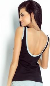 Czarny t-shirt Ivon z bawełny w stylu casual