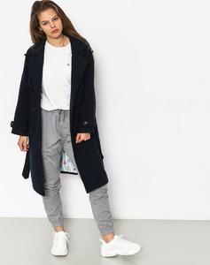 Czarny płaszcz Femi Stories w stylu casual z wełny