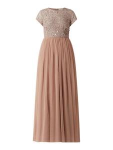 Sukienka Lace & Beads z krótkim rękawem maxi
