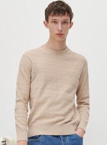 Sweter Reserved z okrągłym dekoltem w stylu casual z wełny