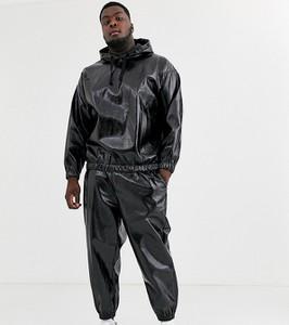 Czarne spodnie Asos ze skóry ekologicznej