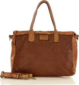 Brązowa torebka Marco Mazzini Handmade ze skóry w stylu boho matowa