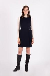 Czarna sukienka MEXX z okrągłym dekoltem mini