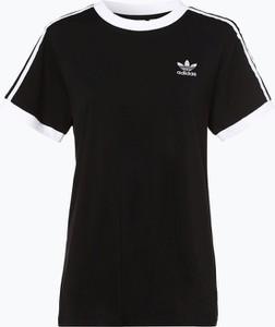Czarny t-shirt Adidas Originals w stylu retro