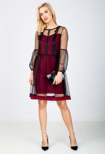 Sukienka Zoio z tiulu z długim rękawem