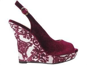 Czerwone sandały Kokietki