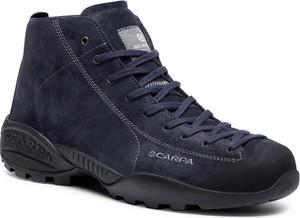Granatowe buty trekkingowe Scarpa z goretexu
