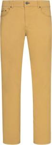 Żółte jeansy Brax z bawełny
