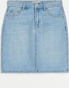 Niebieska spódnica Reserved mini z jeansu w stylu casual