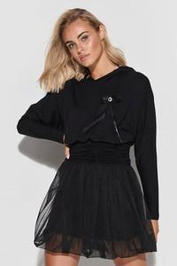 Czarna sukienka Makadamia w stylu casual