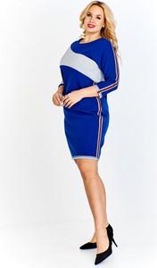 Sukienka Fokus z okrągłym dekoltem w stylu casual mini