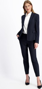 Granatowe spodnie Lavard z tkaniny
