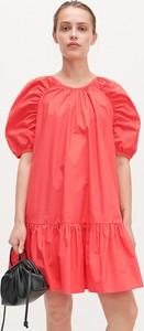 Pomarańczowa sukienka Reserved z bawełny w stylu casual mini