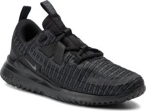 Czarne buty sportowe Nike ze skóry ekologicznej w sportowym stylu z płaską podeszwą
