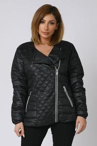Czarna kurtka Plus Size Company krótka w stylu casual