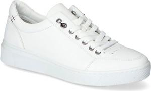 Buty sportowe Venezia z płaską podeszwą ze skóry sznurowane