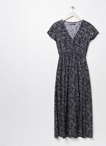 Czarna sukienka Sinsay z dekoltem w kształcie litery v maxi