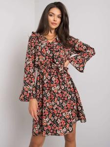 Sukienka Sheandher.pl z dekoltem w kształcie litery v z długim rękawem koszulowa