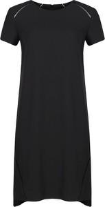 Sukienka Trussardi Jeans z okrągłym dekoltem z krótkim rękawem prosta
