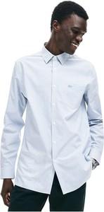 Koszula Lacoste z kołnierzykiem button down z długim rękawem z bawełny
