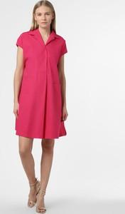 Różowa sukienka MaxMara mini z satyny