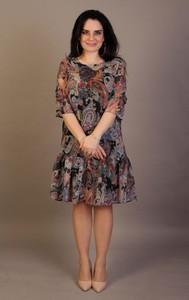 Sukienka Oscar Fashion z szyfonu w stylu casual