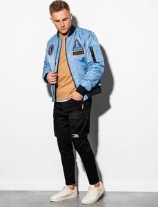 Niebieska kurtka Ombre