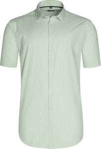 Zielona koszula Tom Rusborg w street stylu z krótkim rękawem z klasycznym kołnierzykiem