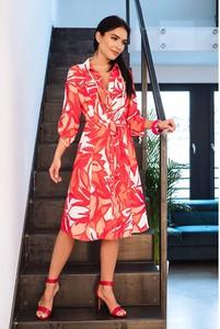 Sukienka Semper z długim rękawem z okrągłym dekoltem