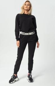 Czarne spodnie Moschino z dresówki