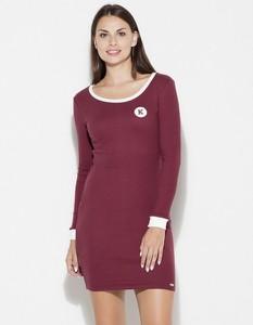 Czerwona sukienka LENITIF mini dopasowana