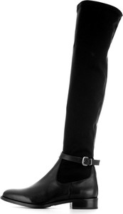 Czarne kozaki Chiarini Bologna ze skóry