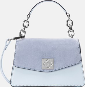 Niebieska torebka Kazar ze skóry