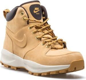 Brązowe buty zimowe Nike ze skóry