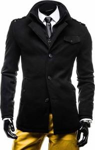 Czarny płaszcz męski Denley w stylu casual