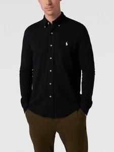 Czarna koszula POLO RALPH LAUREN z bawełny z kołnierzykiem button down