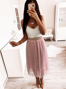 Różowa spódnica Pakuten midi