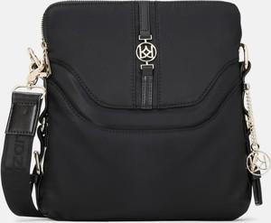 Czarna torebka Kazar na ramię matowa w stylu glamour