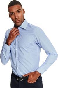 Niebieska koszula Top Secret z tkaniny
