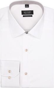 Koszula recman bez wzorów z długim rękawem