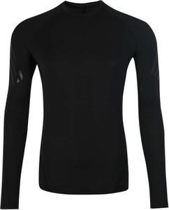 Czarna koszulka z długim rękawem Adidas Performance z dżerseju