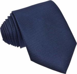 Krawat republic of ties z jedwabiu bez wzorów