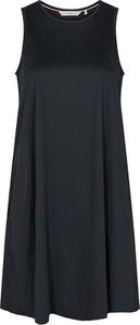 Czarna sukienka Numph z okrągłym dekoltem z bawełny mini