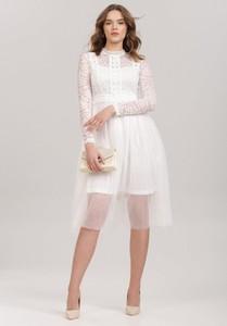 Sukienka Renee z długim rękawem z tiulu