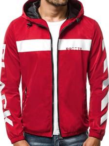 Czerwona kurtka J.STYLE w młodzieżowym stylu