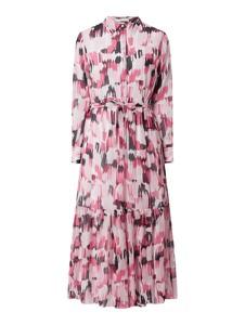 Sukienka Hugo Boss z szyfonu z długim rękawem