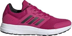 Różowe buty sportowe Adidas Performance z płaską podeszwą