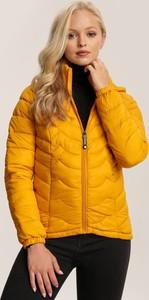 Żółta kurtka Renee krótka w stylu casual